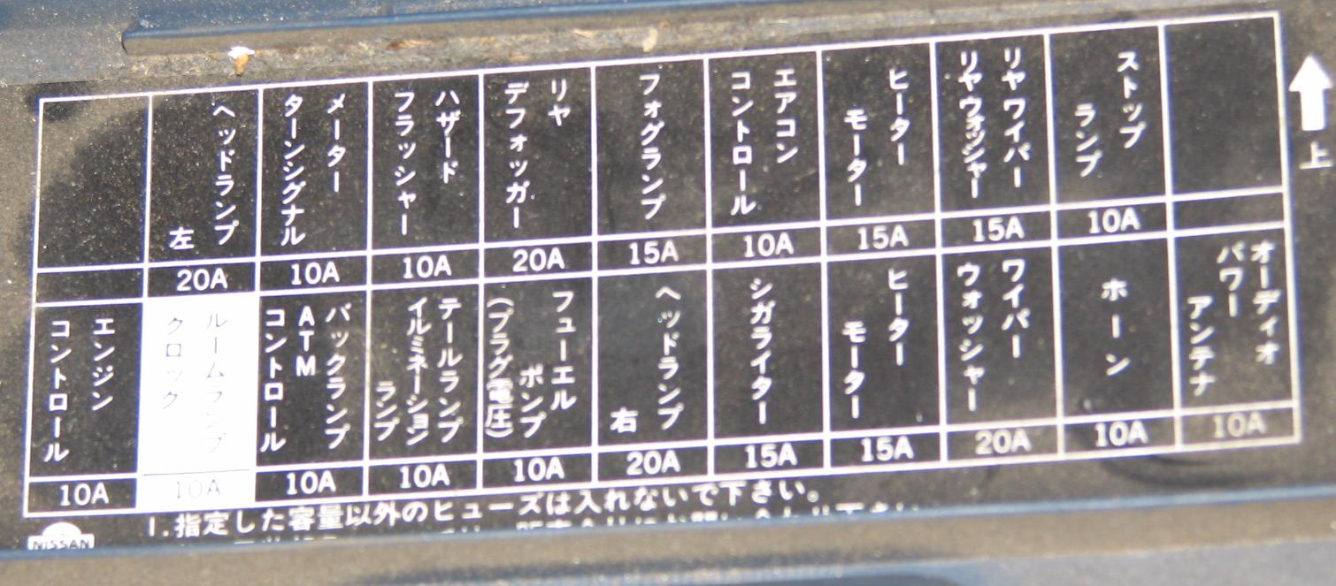 Japanese Car Fuse Box Translation Not Lossing Wiring Diagram Wiki Text R31 Skyline Club Rh R31skylineclub Com Blown Automotive