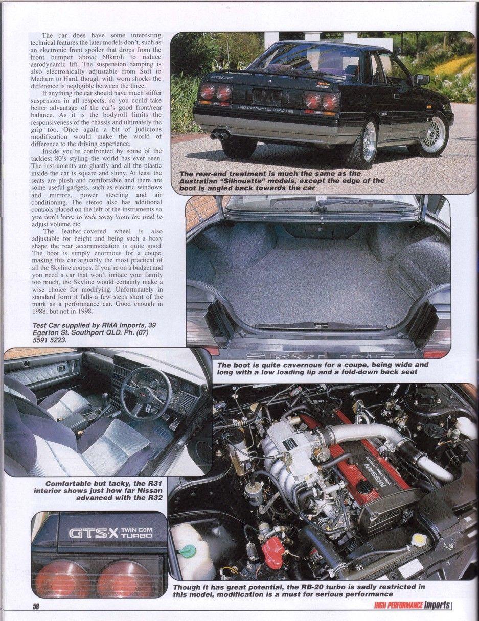 Magazine articles - R31 Skyline Club Wiki